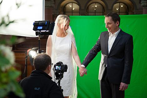Der Aufwand bei den Dreharbeiten war diesmal mit Greenscreenaufnahmen etwas grösser. Foto: Maik Grabosch