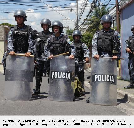 Honduranische Menschenrechtler sehen einen schmutzigen Krieg ihrer Regierung gegen die eigene Bevölkerung