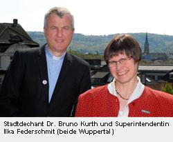 Stadtdechant Doktor Bruno Kurth und Superintendentin Ilka Federschmidt