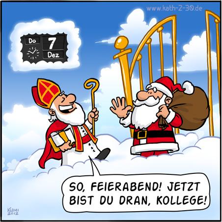 Nikolaus vs. Weihnachtsmann