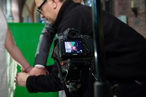 Bis zu vier Kameras filmten eine Szene. Foto: Maik Grabosch