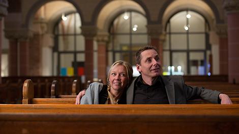 Vanessa Wunsch und Olaf Reitz in einer kurzen Umbaupause. Foto: Maik Grabosch