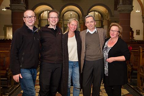 v.l.n.r. Christoph Schönbach, Maik Grabosch, Vanessa Wunsch, Olaf Reitz, Anna-Maria Meinerz. Foto: Selbstauslöser